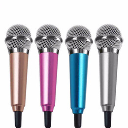 Wholesale clips computer - Fashion 3.5mm Wired Microphone Clip On Mini Lapel Mini Headset Microphone For Mobile Phone Sing Song Karaoke Microphone