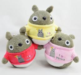 Vestido de totoro online-Nuevo Hayao Miyazaki Totoro Peluches Anime Cartoon Dressing Totoro Muñecas de peluche Colgantes Niños Cumpleaños Regalos de Navidad