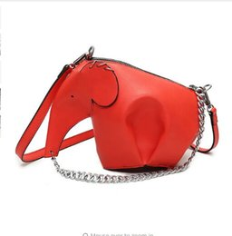 Wholesale Leather Elephant Bag - Women Leather Handbags Casual Cross Body Elephant Shaped Bags Girls ladies messenger bag purse