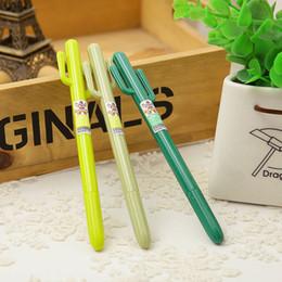expressão escrita Desconto Atacado-3pcs / lot bonito Cactus design Gel caneta / canetas, lápis de escrita suprimentos / moda presente / escritório material escolar