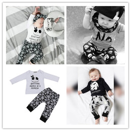 Wholesale Girls Childrens Leggings - 2017 Boys Girls Baby Childrens Clothing Outfits Printed Kids Clothes Sets Cute Printed t-shirts Harem Pants Leggings Set Clothing Suits