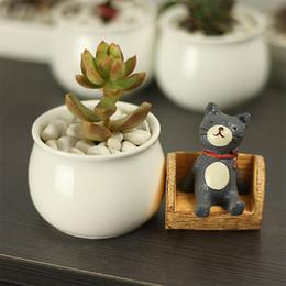 Wholesale Ceramic Flowering Pots - Simple Originality White porcelain Mini flowerpot Ceramic flowerpot plant Succulent plants Garden Supplies Flowerpot free shipping