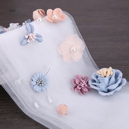 Wholesale Lace Headpieces For Brides - New Design Handmade Wedding Hair Accessories Hair Jewelry Bridal Flower Lace Headdress Pearl Beads Headpieces For Bride