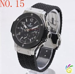 Wholesale Bang Sapphire - NEW LUXURY MEN AUTOMATIC &#72UBLOT BIG BANG STEEL GOLDEN WHITE WATCH MECHANICAL SPORT MEN'S WATCHES RUBBER BAND WRISTWATCH