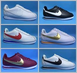 Wholesale Shell Lights - 2017 famous brand men and women Classic cortez shoes leisure Shells shoes cortez QS breathable Leather fashion outdoor Sneakers Size 36-44