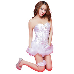 Wholesale Lingerie Dress Porn - Porn Sexy Costumes Women Exotic Lingerie Strapless Dance Party Dress Game Uniform Night Gown Girl Cute Babydoll Underwear 7050