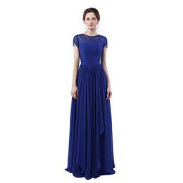 Abendkleider Lang 2017 Vestidos De Baile Vestido Longo De Festa Para Casamento Azul Royal Vestidos de Festa Baratos Longos Vestidos de Noite de