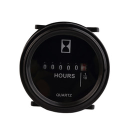 "Wholesale Marine Engine Boat - Wholesale-2"" Round Hour Meter Hourmeter Cart Marine Boat Generator Engine 10-80VDC Black free shipping"