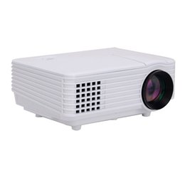 Wholesale 3d Hdtv Led - Wholesale- 12Pieces Lots Kenitoo Projector Mini LED Projector HDTV Home Theater 3D Projector 800*480 Resolution 2200Lumens With Free Gift