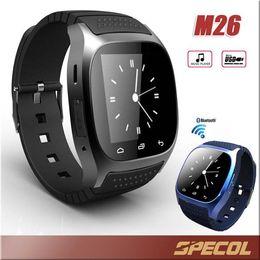 Wholesale Wrist Watch Alarm For Kids - Smart Watch M26 iwoWatch Wirelss Bluetooth smartwatch Goophone Bracelet Camera Remote Control alarm DZ09 GT08 watch for IOS Android