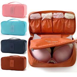 Wholesale Bras Travel Box - Wholesale- Travel waterproof Bra Underwear Pouch Cosmetic Bag Luggage Storage Box Holder