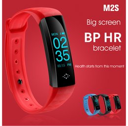 Wholesale Oled Watches - M2S Sport Smartband OLED Blood Pressure Watch Blood Oxygen Heart Rate Monitor Smart Bracelet Weather Riding Running Mode