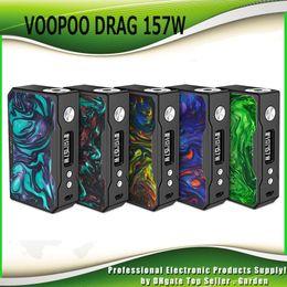 Wholesale Wholesale Battery Boxes - Original VOOPOO DRAG 157W TC Box Mod Dual 18650 Battery Super Vape Ecig Mods Temperature Control Mod 100% Authentic New Colors