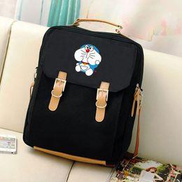Wholesale Doraemon Backpack - New Canvas Preppy Style Printing Backpack Anime Kawaii Doraemon Mochila Women Backpacks Students School Bags for Teenagers Girls