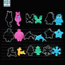 Wholesale Butterfly Biscuit Cutter - Wholesale- Aluminium Alloy Cookie Mold Butterfly Star Deer Snow Tree Dolphin Cat Penguins Shape Biscuit Cutters Baking Tools