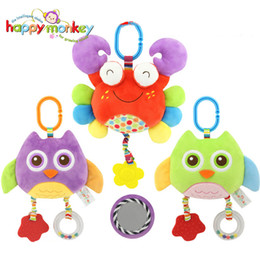 Wholesale Owl Cot - Wholesale- Baby Toys Stroller Cot Bed Hanging Crib Mobile Soft Owl Crab Teether Education Plush Rattles Toys For Newborns Babies 0-12 Month
