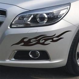 Wholesale vinyl bumpers - 1Pair Flame Car Stickers 13cm*4cm 30cm*6cm 40cm*8cm 50cm*9.5cm Bumper Rearview Mirror Front Cover Car Paste Vehicle Paste Auto Decal