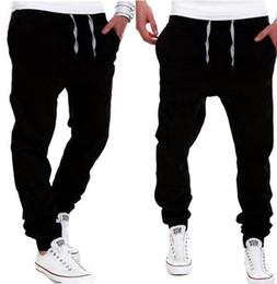 Wholesale Wholesale Men Clothes Free Shipping - Wholesale-Free Shipping Plus Size Men's Clothing Pants Cotton Fashion joggers Men Casual Pants Black Khaki pants trousers spring autumn