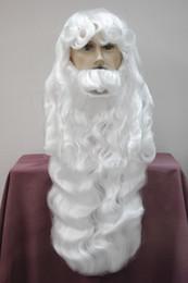 2019 mehrfarbige haare gefärbt Art und Weise Gesundheit 2018 des freien Verschiffens neue reizend weißes Weihnachtsgroßvater Weihnachtstagweiße Perücke