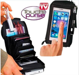 Wholesale Multi Touch Cell Phone - Touch Purse Oxford Multi-functional Mini Phone Package Crossbody Coin Purse Clutch Wallet Creative Business Credit Card Holder