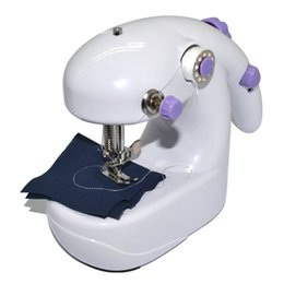 Wholesale Paisley Bedding - Portable 2 in 1 Batteries Operated Mini Sewing Machine Stitching Control desktop