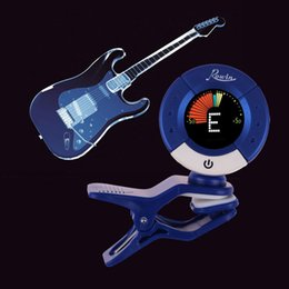 Wholesale Tuner For Guitar Free Shipping - Free Shipping Rowin LT-620 Clip-on Guitar Tuner Clip-On Design for Guitar Bass Ukulele Violin Chromatic New 2016 High Quality
