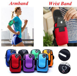 Wholesale Galaxy Bamboo Case - 5.7 Inch Universal Running Riding Nylon Arm Band Case for iphone 7 6 6S for Samsung Galaxy S6 S7 Sport Arm Bag