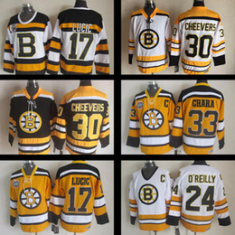 Wholesale Boston Grey - Boston Bruins Throwback Stitched jersey #17 Milan Lucic #24 Terry O'Reilly #30 Gerry Cheevers #33 Zdeno Chara CCM Vintage Ice Hockey Jersey