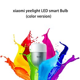 Wholesale Wifi For Android - Wholesale-Original Xiaomi MI Yeelight E27 LED Bulb Smart Light Bulb WIFI Remote Control Adjustable LED Light for iOS Android Smartphone
