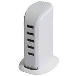 Wholesale Mobile Power Station Blackberry - 5V 6A Mobile Chargers 6 Port USB Charging Station Socket 30W Desktop USB Charger Power Adapter Rapid Charging for iPhone Samsung and More