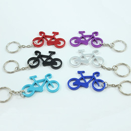 Wholesale Pillar Plate - Wholesale 72Pcs Fashionable Bicycle Metal Bottle Opener Can opener with Keyring Keychain Promotional Gift--Free shipping