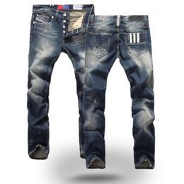 Wholesale Cotton Twill Pants - Summer Long Casual Men Jeans Pant Retro Europe Plus Size Straight Trousers For Men Fashion Hip Hop Slim Men Jeans J170201