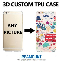 Wholesale Apple Add - 3D Relief Cartoon Cover Cases for iphone 6 for iphone 6s DIY Custom Design Add LOGO Photo Picture Colorful Case