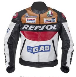 Wholesale Repsol Leather - 2017 New DUHAN Moto Racing Jackets motorbike GP REPSOL motorcycle Riding Leather Jacket Top Quality PU leather