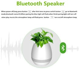 Wholesale Touches Piano - New Bluetooth Speaker Smart Touch Music Flowerpots Plant Piano Music Playing Wireless Flowerpot colorful light Flower pots (whitout Plants)