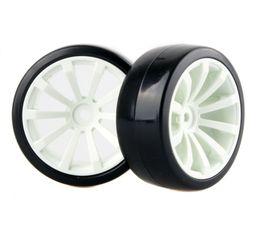 Wholesale Rc Tyres - 4x RC Hard Tires Tyre Plastic Wheel Rim HSP HPI 1:10 On-Road Drift Car 602-6015