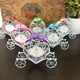 Wholesale Candy Favor Box Carriage - Iron romantic pumpkin carriage wedding candy box wedding favor and gifts Baby Shower, Wedding Decoration, Wholesale wa3249