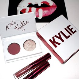 Wholesale Stockings Hearts Wholesale - In stock Kylie Jenner Valentines Collection Gift Two Mini Kit +Two Colors Kyshadow Palette kiss me sweet heart smooch