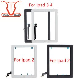 Wholesale Touch Screen Glass Repair - For iPad 2 3 4 Screen Digitizer Glass Touch Panel Replacement Repair Parts Assembly With Home Button Adhesive Sticker for ipad2 3 4