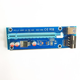 ide vga converter Скидка 2017 новый PCI-E PCIe PCI Express кабель карты 1 X до 16 x Райзер USB 3.0 удлинитель кабель с Sata для 4pin IDE Molex питания 60 см кабель