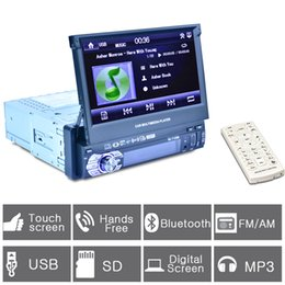 Wholesale Double Din Tv Tuner - Universal 1 Din Car DVD Double Din Car Video Player Touch Screen Panel Car Audio Player 7158B Support FM MP5 USB AUX Bluetooth