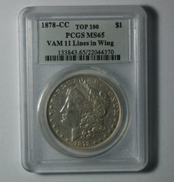 Wholesale Collectible Money - Wholesale Hot Selling PCGS 1878-CC MS65 Morgan One Dollar Coin  FREE SHIPPING