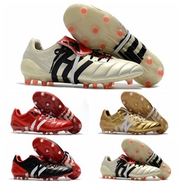 Wholesale Cheap Mens Soccer Cleats - Original Predator Mania Champagne FG mens Football Boots 2017 Champagne FG Soccer Shoes High Quality cheap Soccer Cleats Black Gold red Hot