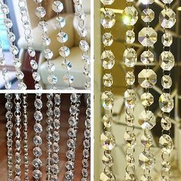 Wholesale Table Crystal Chandelier Wholesale - 3.3 FT Crystal Clear Acryli3.3 Feec Beads Chain Acrylic Crystal Garland Hanging Diamond Chandelier Wedding supplies Party Table Decoration