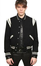 Sternblick online-Großhandels- 2017 Fashion High Quality Star Sieht Mode Herren Letterman Jacken Für Männer Hip Hop Hoodies Baseball Varsity Jacke
