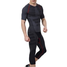 Wholesale Skins Compression Wholesale - Wholesale- 2017 Men Quick-Dry Athletic Short Pants Compression Train Base Layers Skin Sports Running Tights