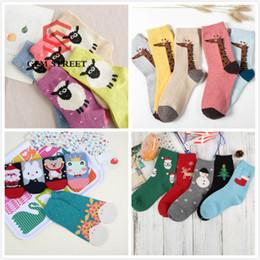 Wholesale Cheap Hosiery Wholesale - Cheap Christmas Thickening Wool Women Socks & Cosy Warm Cute Anime Pattern Female Socks & Hosiery GEM STREET