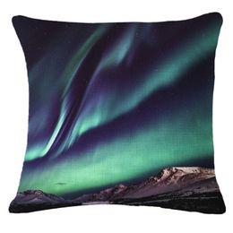 Wholesale Night Light Pillows - The night sky landscape pattern decorative pillow cover cushion 43cm * -43cm square pillow Polyester Cotton Home Textiles