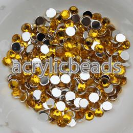 Wholesale 6mm Flat Back Rhinestones - 1000pcs Cheap Colors 6MM Flat Back Acrylic Diamonds Rhinestone Beads Embelishment Appliques for Clothing Craft Making