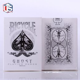 Wholesale Magician Cards - 1pcs Ellusionist Bicycle White Ghost Deck Magic Cards Playing Card Poker Close Up Stage Magic Tricks for Professional Magician